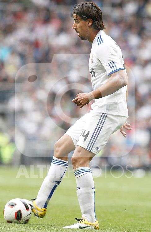 Real Madrid's Sami Khedira during La Liga Match. April 02, 2011. (ALTERPHOTOS/Alvaro Hernandez)