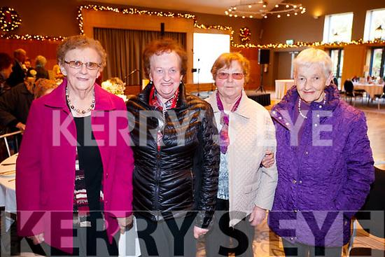 Catherine Nealon, Mary Cantillon, Joan Murphy and Jenny Harty, enjoying the Causeway Senior Citizens  Christmas party at Ballyroe Heights Hotel, Tralee on Sunday last.