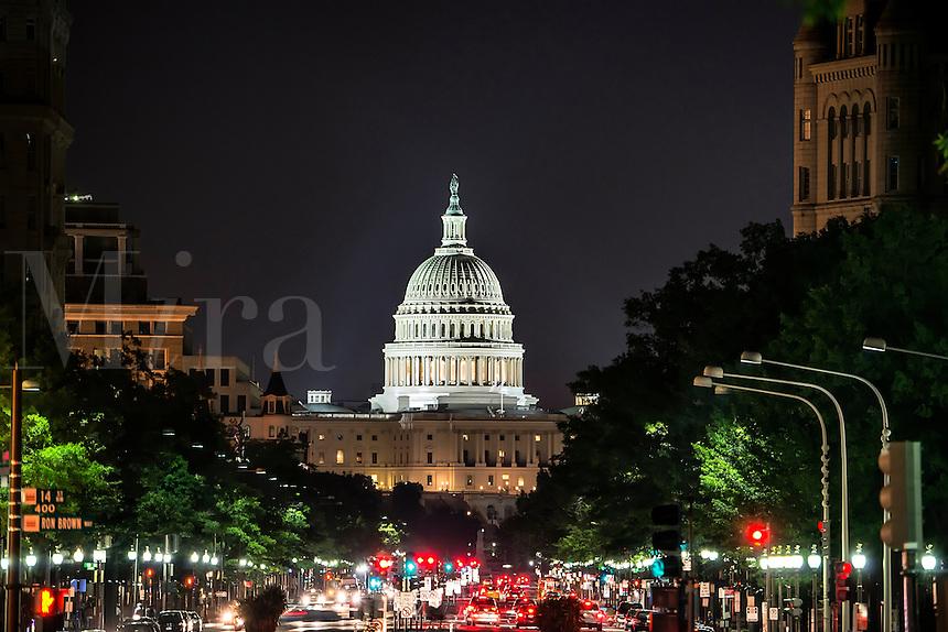 Pennsylvania Avenue to the Capitol Building, Washington DC, USA