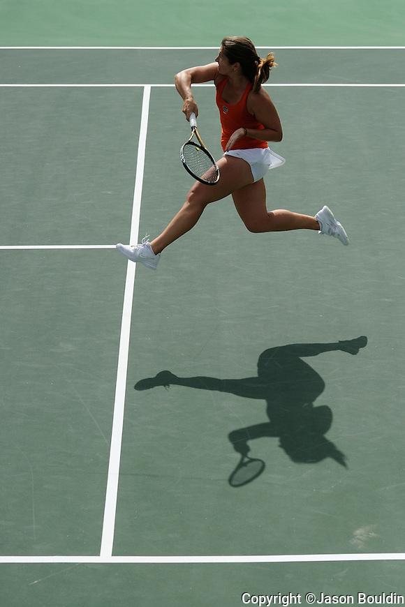 Florida's Alexandra Cercone.  2012 SEC Women's Tennis Championships Semifinals.  Photo by UM Photographer Kevin Bain