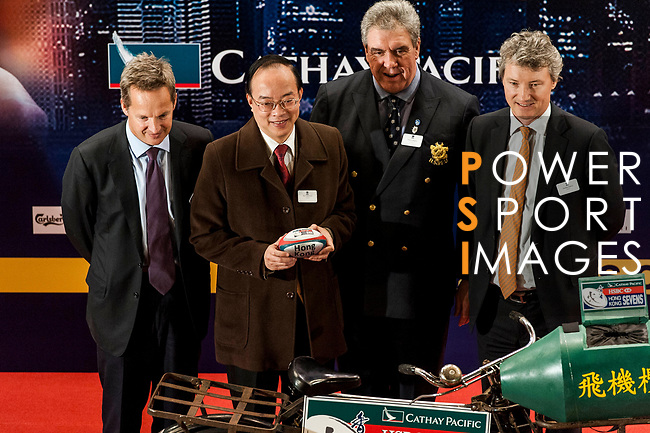 Official Draw of the 2014 Cathay Pacific / HSBC Hong Kong Sevens on February 11, 2014 at Confucius Hall Secondary School in Hong Kong, China SAR. Photo by Xaume Olleros / Power Sport Images