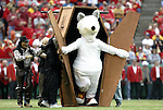 31 October 2004: The Chiefs' mascot K.C. Wolf dresses as a mummy for Halloween. The Kansas City Chiefs defeated the Indianapolis Colts 45-35 at Arrowhead Stadium in Kansas City, MO in a regular season National Football League game..