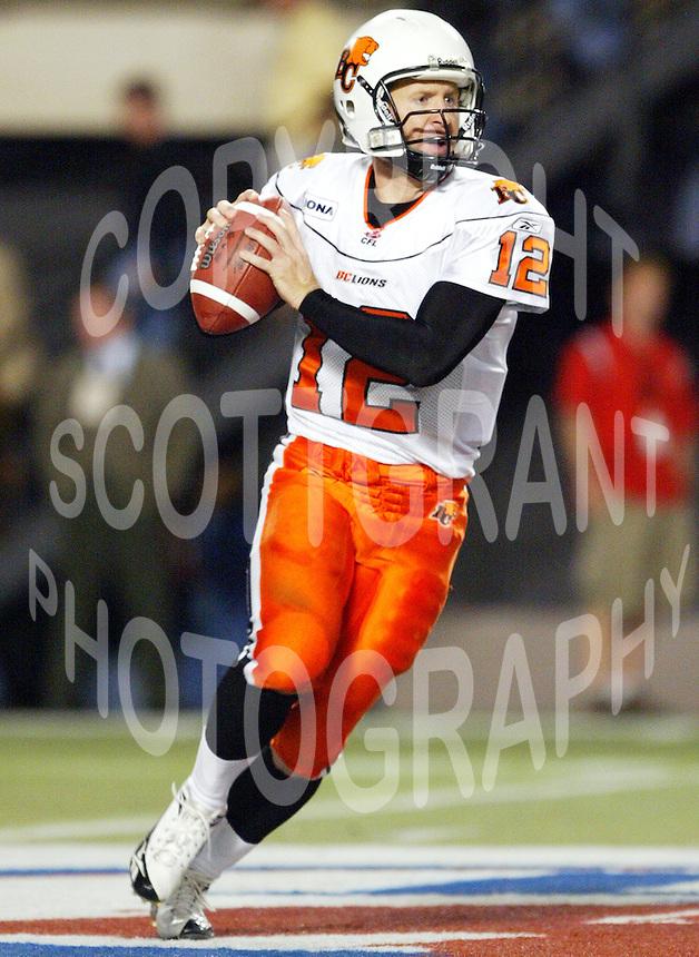 Dave Dickenson BC Lions quarterback. Copyright photograph Scott Grant