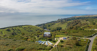 BNPS.co.uk (01202 558833)<br /> Pic: SpenceWillard/BNPS<br /> <br /> Stunning view's over the English channel...<br /> <br /> Listen Up...WW2 radar station that helped The Few defeat Goerings Luftwaffe for sale.<br /> <br /> A historic Battle of Britain radar station has emerged for sale for almost £1million after it was converted into an ultra-modern holiday home.<br /> <br /> The Old Radar Station is located on St Boniface Down, near Ventnor, on the highest point of the Isle of Wight.<br /> <br /> Built in 1938 to defend British shores as the threat of war loomed, it offers breathtaking 360 degree views across the island and the English Channel.
