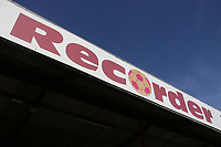 Recorder signage during Dagenham & Redbridge vs Hartlepool United, Vanarama National League Football at the Chigwell Construction Stadium on 14th September 2019