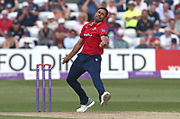 Ravi Bopara in bowling action for Essex during Essex Eagles vs Yorkshire Vikings, Royal London One-Day Cup Play-Off Cricket at The Cloudfm County Ground on 14th June 2018