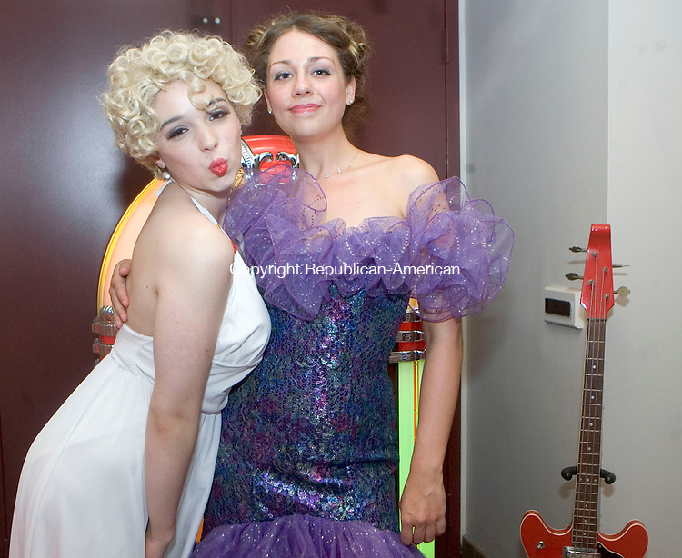LITCHFIELD, CT- 09 JUNE 2007- 061207JT06-<br /> Caitlin Barra as Marilyn Monroe with Chelsey Bowers as Barbie during the Warner Theatre's 9th Annual Spring Fling Gala Auction at the Forman School in Litchfiield on Saturday, June 9. The event is the main fundraising event for the historic theater. The teme was &quot;At the Hop.&quot;<br /> Josalee Thrift Republican-American
