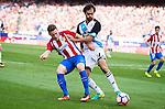 Atletico de Madrid's player Kevin Gameiro and Deportivo de la Coruña's player Arribas during a match of La Liga Santander at Vicente Calderon Stadium in Madrid. September 25, Spain. 2016. (ALTERPHOTOS/BorjaB.Hojas)