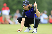 Tommy Fleetwood (ENG) lines up his ball on the 2nd green during Sunday's Final Round of the WGC Bridgestone Invitational 2017 held at Firestone Country Club, Akron, USA. 6th August 2017.<br /> Picture: Eoin Clarke | Golffile<br /> <br /> <br /> All photos usage must carry mandatory copyright credit (&copy; Golffile | Eoin Clarke)