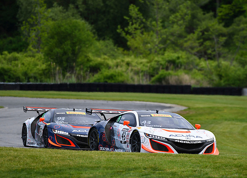 Pirelli World Challenge<br /> Grand Prix of Lime Rock Park<br /> Lime Rock Park, Lakeville, CT USA<br /> Saturday 27 May 2017<br /> Ryan Eversley / Tom Dyer, Peter Kox / Mark Wilkins<br /> World Copyright: Richard Dole/LAT Images<br /> ref: Digital Image RD_LMP_PWC_17170
