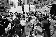 "26 Aug 1970 --- Feminists march in New York City on August 26, 1970 on the 50th anniversary of the passing of the Nineteenth Amendment which granted American women full suffrage. The National Organization for Women (NOW) called upon women nationwide to ""strike for equality"" on that day. --- Image by © JP Laffont"