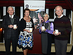 Reciepients of the Comhaltas Ceoltóirí Éireann Gaeilge Abú award Michael O'Broin, Lolo Robinson, Brighid Bean Ní Annagáin and Bartle Woods pictured with their awards in the Westcourt hotel. Photo:Colin Bell/pressphotos.ie