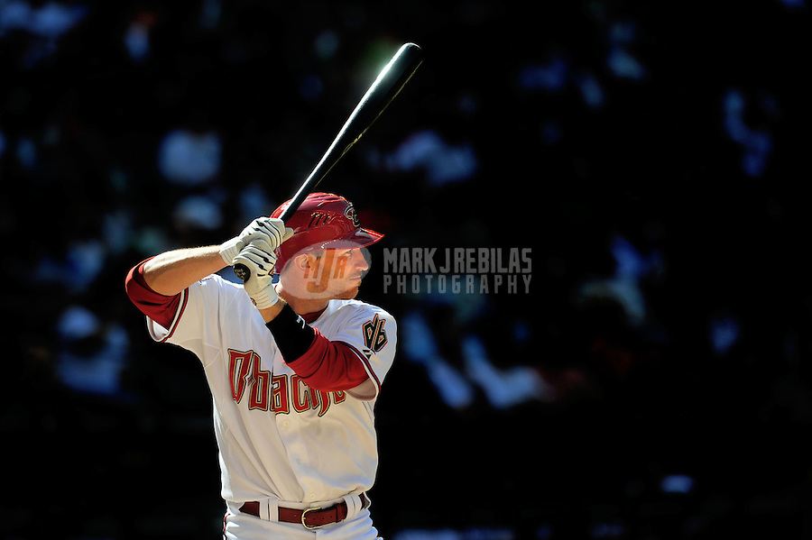 Apr. 9, 2008; Phoenix, AZ, USA; Arizona Diamondbacks catcher Robby Hammock against the Los Angeles Dodgers at Chase Field. Mandatory Credit: Mark J. Rebilas-