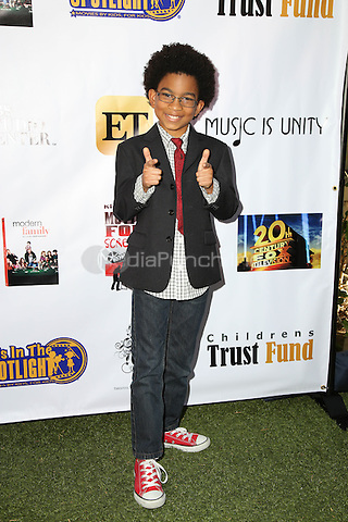 LOS ANGELES, CA - NOVEMBER 7: Andre Robinson II at the Kids In The Spotlight's Movies By Kids, For Kids Film Awards at Fox Studios in Los Angeles, California on November 7, 2015. Credit: David Edwards/MediaPunch