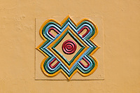 Emir's Palace design detail - symbol of Northern Nigeria. Zaria, Nigeria.