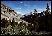 View of mountains - old roadbed across talus slope center of picture - Alpine tunnel area?<br /> D&amp;RGW  Alpine Tunnel, CO
