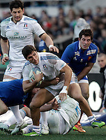Rugby, torneo Sei Nazioni 2013: Italia vs Francia. Roma, stadio Olimpico, 3 febbraio 2013..Italy's Giovanbattista Venditti in action during the Six Nations rugby union international match between Italy and France, at Rome's Olympic stadium, 3 February 2013..UPDATE IMAGES PRESS/Riccardo De Luca
