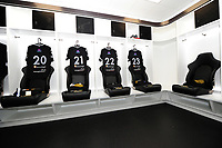 A general view of the home dressing room at the liberty stadium, home of Ospreys. <br /> <br /> Photographer Ashley Crowden/CameraSport<br /> <br /> Guinness Pro14 Round 6 - Ospreys v Scarlets - Saturday 7th October 2017 - Liberty Stadium - Swansea<br /> <br /> World Copyright &copy; 2017 CameraSport. All rights reserved. 43 Linden Ave. Countesthorpe. Leicester. England. LE8 5PG - Tel: +44 (0) 116 277 4147 - admin@camerasport.com - www.camerasport.com
