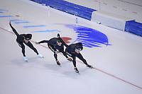 SCHAATSEN: HEERENVEEN: 15-09-2014, IJsstadion Thialf, Topsporttraining, Kjeld Nuis, Stefan Groothuis, Hein Otterspeer, ©foto Martin de Jong