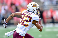 College Park, MD - SEPT 22, 2018: Minnesota Golden Gophers wide receiver Demetrius Douglas (82) returns the footballon a kickoff during game between Maryland and Minnesota at Capital One Field at Maryland Stadium in College Park, MD. The Terrapins defeated the Golden Bears 42-13 to move to 3-1 on the season. (Photo by Phil Peters/Media Images International)