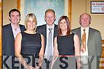 On the ball at the Currow GAA club centenary celebration social in the River Island Hotel Castleisland on Friday night were l-r: Paudie Collins, Elaine Mitchell, Seamus Scanlon, Una Scanlon and Jimmy Scanlon..