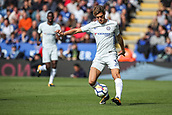 9th September 2017, King Power Stadium, Leicester, England; EPL Premier League Football, Leicester City versus Chelsea; Marcos Alonso of Chelsea puts in a long cross from the left wing