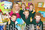 EDUCATION: Children from Firies National School who commenced the Food Dudes Healthy Eating programme at the school this week..Front L/r. Cian Doe, James O'Leary, Tomas Scott..Back L/r. Geraldine Shanahan (Health promotion co-ordinator in Firies NS), Faith Pilkington and Olivia Darlington. ..   Copyright Kerry's Eye 2008