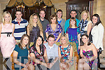 Cliona Moran Woodlawn, Killarney and Simon Robinson Newcastle, England celebrate their engagement with their friends in the Killarney Avenue Hotel on Saturday night.....