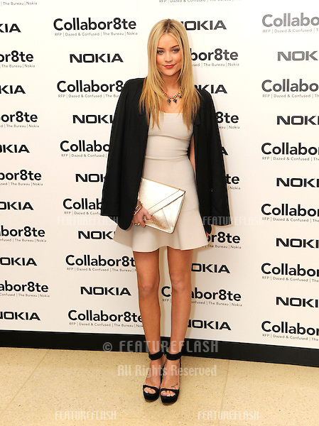 Laura Whitmore at the Collabor8te Connected by NOKIA Premiere at Regent Street Cinema, London, England. 12/02/2013 Henry Harris / Featureflash