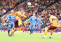 John Sutton flicking the ball on