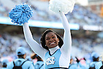 19 November 2016: UNC cheerleader. The University of North Carolina Tar Heels hosted the The Citadel, The Military College of South Carolina Bulldogs at Kenan Memorial Stadium in Chapel Hill, North Carolina in a 2016 NCAA Division I College Football game. UNC won the game 41-7.