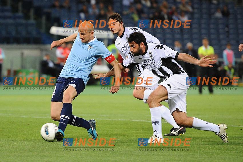 Tommaso Rocchi (Lazio).Roma, 02/05/2012 Stadio Olimpico.Football Calcio 2011/2012 .Lazio vs Siena 1-1.Campionato di calcio Serie A.Foto Insidefoto Antonietta Baldassarre