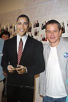 SMG_SMG_EXC_Matt Damon_Obama_West Palm_102608_02_Matt Damon_Blasts Obama_122311_07.JPG<br /> <br /> FILE PHOTO<br /> Orig Pix Taken  SMG_Matt Damon_Mamas For Obama_102708_13 -  Miami Beach - Florida - United States Of America <br /> -----------------------------------<br /> <br /> MIAMI BEACH, FL - DECEMBER 22: (DAILY MAIL UK) Matt Damon has taken another swipe at Barack Obama and dismissed him as a 'one term President.' In his most ferocious attack to date, the Hollywood star vented his anger at the President's failure to bring about change in America. He said: 'I've talked to a lot of people who worked for Obama at the grassroots level. One of them said to me, &quot;Never again. I will never be fooled again by a politician&quot;.'  'You know, a one-term president with some balls who actually got stuff done would have been, in the long run of the country, much better.'  His latest attack was made in an interview for Elle magazine to promote his new film We Bought a Zoo.  Damon, 41,was one of the biggest Hollywood stars to stump for Obama during his 2008 election campaign. He attended fund raising events and was vocal in his support for the Democrat who was elected on a mandate of 'change' and 'hope'. But over the last year the Bourne Identity star has changed his opinion - and been more than happy to publicise his disenchantment.  <br /> <br /> In March, he criticized Obama's education policy,saying 'I really think he misinterpreted his mandate.   'A friend of mine said to me the other day, I thought it was a great line, &quot;I no longer hope for audacity.&quot; He's doubled down on a lot of things.'  President Obama even mentioned Damon's change of heart during this year's White House Correspondent's Ball. He said: 'I've even let down my key core constituency: movie stars. Just the other day, Matt Damon - I love Matt Damon, love the guy - Matt Damon said he was disappointed in my performance. Well, Matt, I just saw The Adjustment Bureau, so - right back at-cha, buddy. . on December 22, 2011 in Miami Beach, Florida  (Photo By Stor