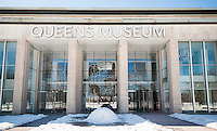 The newly renovated Queens Museum of Art, formerly the New York City Pavilion in the 1939 and 1954 World's Fairs, in Flushing Meadows Park in Queens in New York seen on Saturday, February 24, 2013.  (© Richard B. Levine)