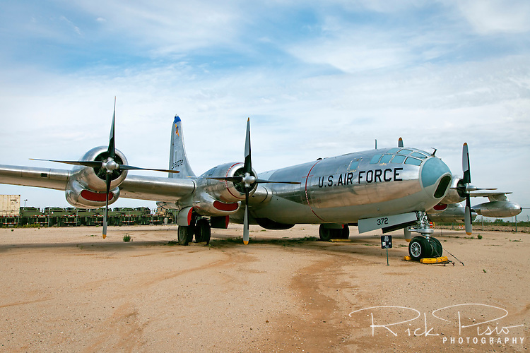 Boeing KB-50J Superfortress on display at Pima Air Museum in Tucson, Arizona. The KB-50 was used as an aerial refueling tanker between