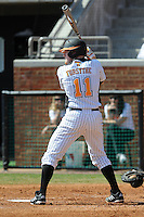 Blake Forsythe #11 of the Tennessee Volunteers at Lindsey Nelson Stadium in game against LSU Tigers in Knoxville, TN March 27, 2010 (Photo by Tony Farlow/Four Seam Images)