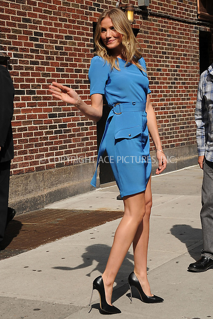 WWW.ACEPIXS.COM . . . . . .June 20, 2011...New York City...Cameron Diaz tapes the Late Show with David Letterman on June 20, 2011 in New York City....Please byline: KRISTIN CALLAHAN - ACEPIXS.COM.. . . . . . ..Ace Pictures, Inc: ..tel: (212) 243 8787 or (646) 769 0430..e-mail: info@acepixs.com..web: http://www.acepixs.com .