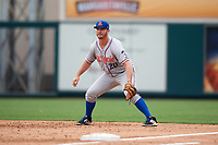 St. Lucie Mets first baseman Peter Alonso (20) during the first game of a doubleheader against the Lakeland Flying Tigers on June 10, 2017 at Joker Marchant Stadium in Lakeland, Florida.  Lakeland defeated St. Lucie 6-5 in fourteen innings.  (Mike Janes/Four Seam Images)