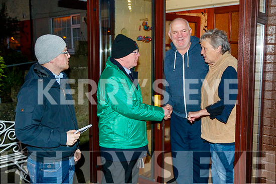 John Brassil and supporters canvassing in Shanakill, Tralee with Michael Rossa and Kathleen Donovan, Shanakill, Tralee, pictured on Friday last on left is Kerry's reporter Mike Ahern.