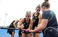 Blacksticks and warm down kids during the Pro League Hockey match between the Blacksticks women and the USA, Nga Punawai, Christchurch, New Zealand, Sunday 16 February 2020. Photo: Simon Watts/www.bwmedia.co.nz