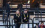 Solna 2014-03-31 Fotboll Allsvenskan AIK - IFK G&ouml;teborg :  <br /> AIK supportrar deppar efter matchen<br /> (Foto: Kenta J&ouml;nsson) Nyckelord:  AIK Gnaget Solna IFK G&ouml;teborg Bl&aring;vitt depp besviken besvikelse sorg ledsen deppig nedst&auml;md uppgiven sad disappointment disappointed dejected