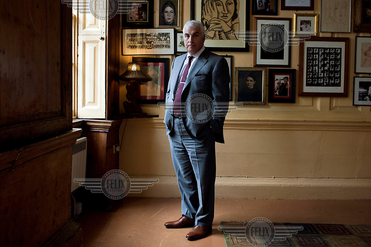 Mitch Winehouse, father of singer Amy Winehouse, photographed at the Union Club in Soho, London. Amy Winehouse (1983-2011) was a multi award singer and songwriter. She died of alcohol poisoning at the age of 27 in July 2011.