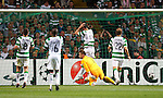 Agony for Celtic as the ball is deflected past Artur Boruc and in to the net for goal no 2