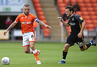 Blackpool's Jay Spearing and Bradford City's Jack Payne<br /> <br /> Photographer Rachel Holborn/CameraSport<br /> <br /> The EFL Sky Bet League One - Blackpool v Bradford City - Saturday September 8th 2018 - Bloomfield Road - Blackpool<br /> <br /> World Copyright &copy; 2018 CameraSport. All rights reserved. 43 Linden Ave. Countesthorpe. Leicester. England. LE8 5PG - Tel: +44 (0) 116 277 4147 - admin@camerasport.com - www.camerasport.com