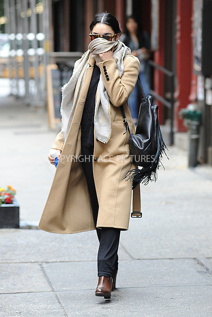 WWW.ACEPIXS.COM<br /> June 6, 2015 New York City<br />  <br /> Vanessa Hudgens seen walking in the West Village of New York City on June 6, 2015.<br /> <br /> By Line: Kristin Callahan/ACE Pictures<br /> <br /> Tel: 646 769 0430<br /> Email: info@acepixs.com<br /> www.acepixs.com