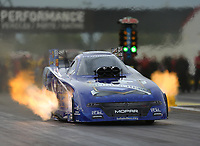 Sep 1, 2017; Clermont, IN, USA; NHRA funny car driver Jack Beckman during qualifying for the US Nationals at Lucas Oil Raceway. Mandatory Credit: Mark J. Rebilas-USA TODAY Sports
