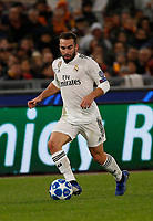Dani Carvajal of Real Madrid   during the Champions League Group  soccer match between AS Roma - Real Madrid  at the Stadio Olimpico in Rome Italy 27 November 2018