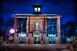 Xenia station at night in Xenia Ohio. Part of the parks and bike trail hub.