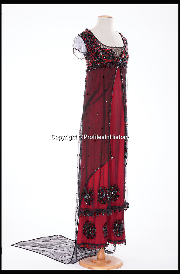 BNPS.co.uk (01202 558833)<br /> Pic: ProfilesInHistory/BNPS<br /> <br /> ***Please Use Full Byline***<br /> <br /> No 10: Kate Winslet's Oscar-winning 'Rose' dress in Titanic (1997) sold for $270,000. <br /> <br /> In the wake of the Oscars, a list of the most valuable Academy Award-winning movie memorabilia ever sold at auction has been compiled.<br /> <br /> Movie memorabilia is big business for collectors, but you'd need deep pockets to get your hands on these pricey items, which have all been sold in the last five years for at least six-figure sums.
