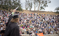 (Photo by César Martinez '17, Student Freelance)<br /> <br /> Occidental College Commencement ceremony for the class of 2016, May 15, 2016 in the Remsen Bird Hillside Theater.<br /> <br /> (Photo by César Martinez '17, Student Freelance)